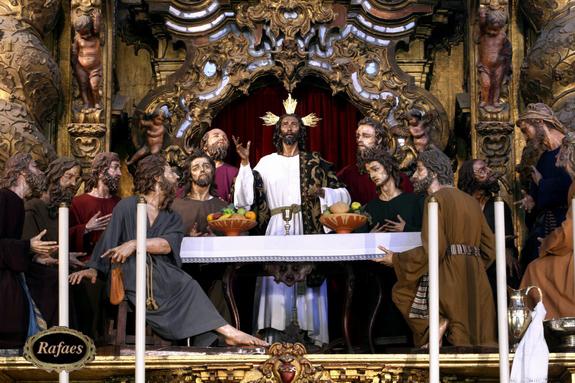 foto misterio sagrada cena dia corpus sevilla: